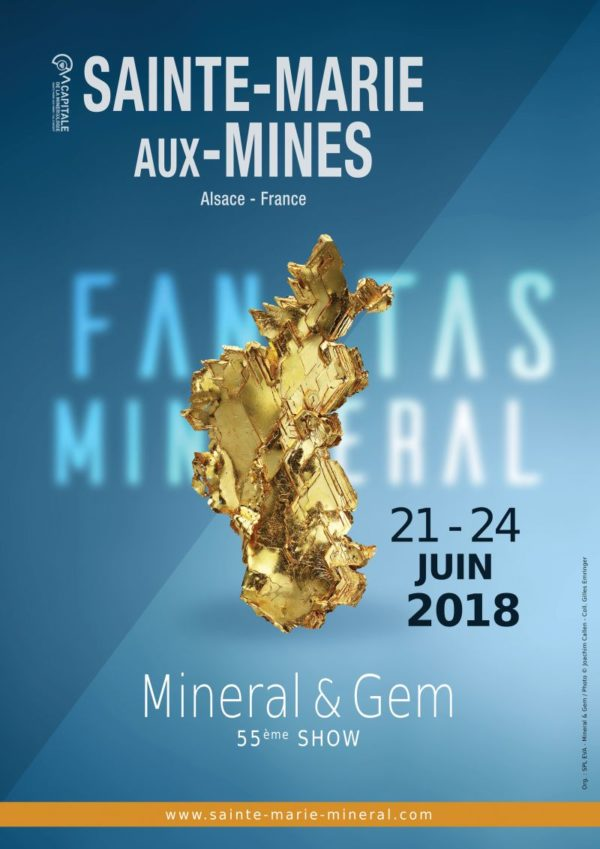 55e SALON INTERNATIONAL MINERAL & GEM – SAINT MARIE AUX MINES, FRANCE